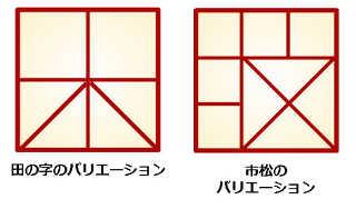 重詰め:田の字のバリエーション