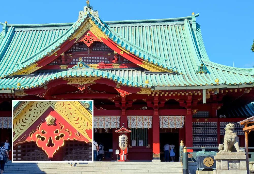 神田明神社殿の猪目模様